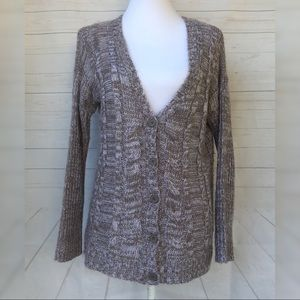 Cable knit Cardigan Sweater oversized Size Small